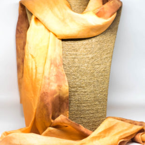 Gold and Brown Silk Scarf