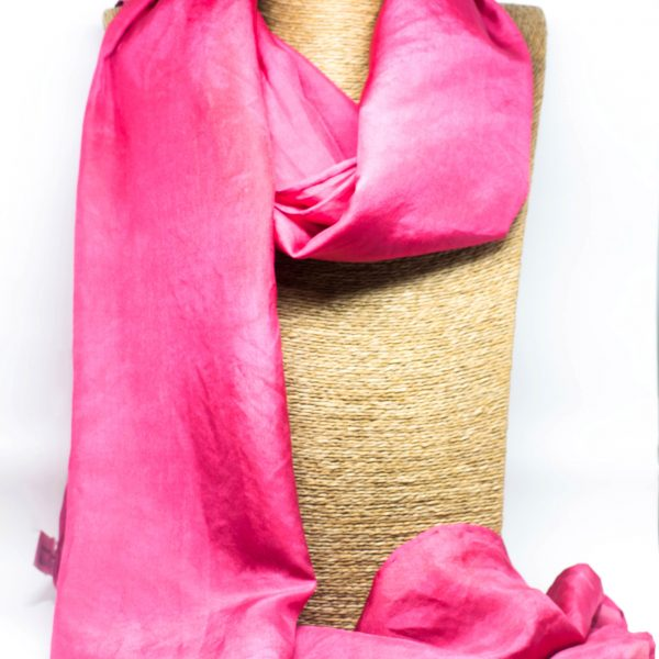 Crimson Silk Scarf