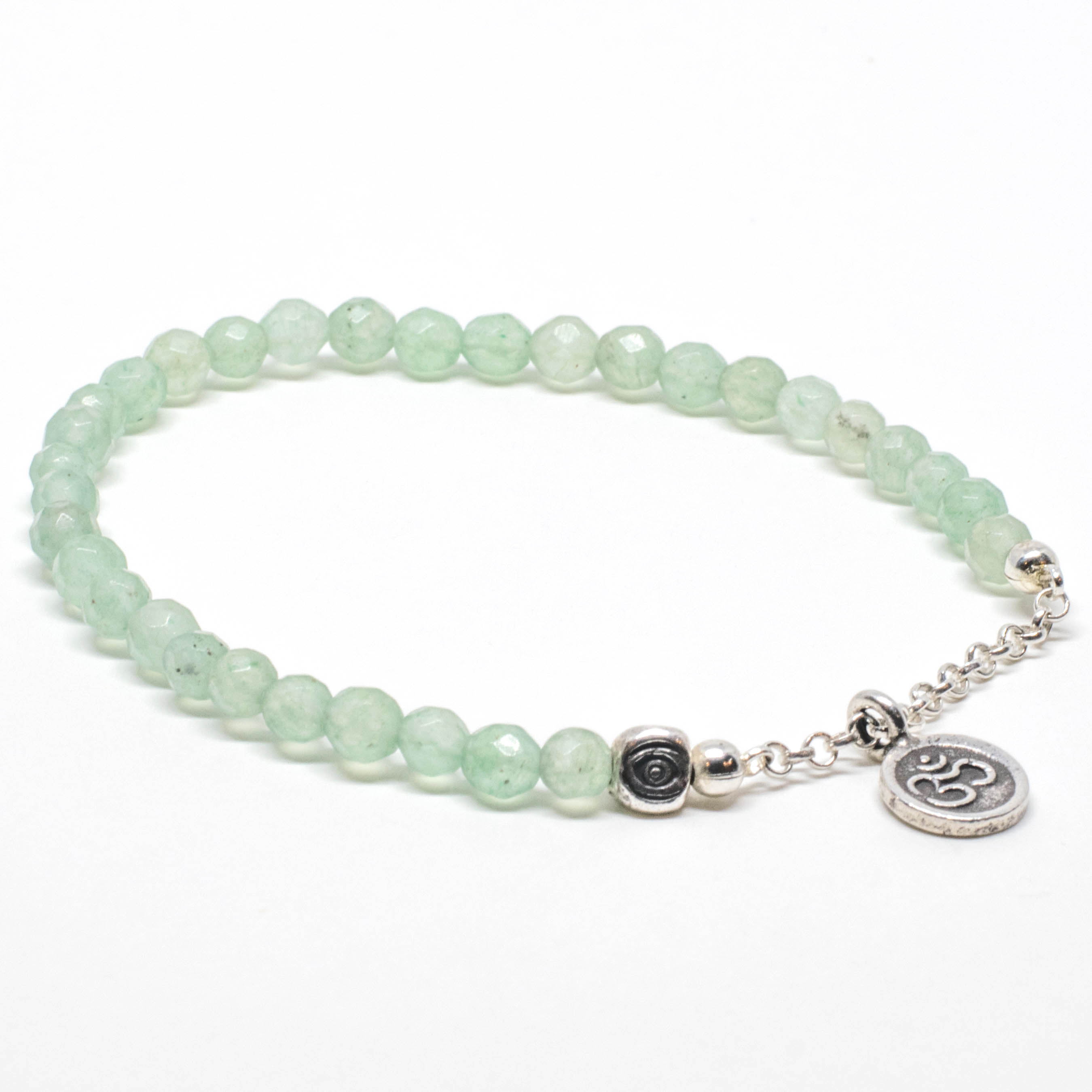 chain aventurine peace sign jewlery shakti product bracelet stretch sparkle